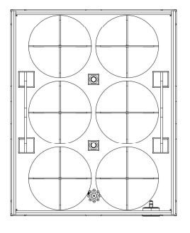 6x50 gas cylinder bundel drawing and dimensions A