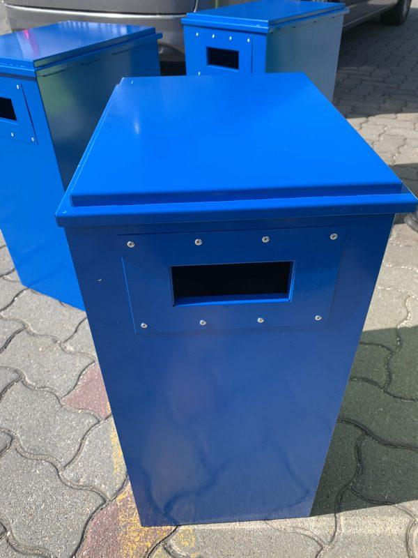[:hu]Gázpalack tároló és szállító láda oldalsó fogó[:en]Gas cylinder storage and transport box side view with grip[:]